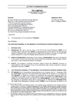 Letter to Shareholders dated 2 April 2019